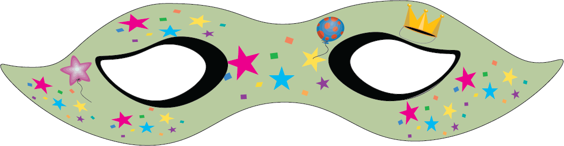 Purim clipart mask. For sketching out
