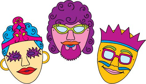 Purim clipart mask. Pin on upside down