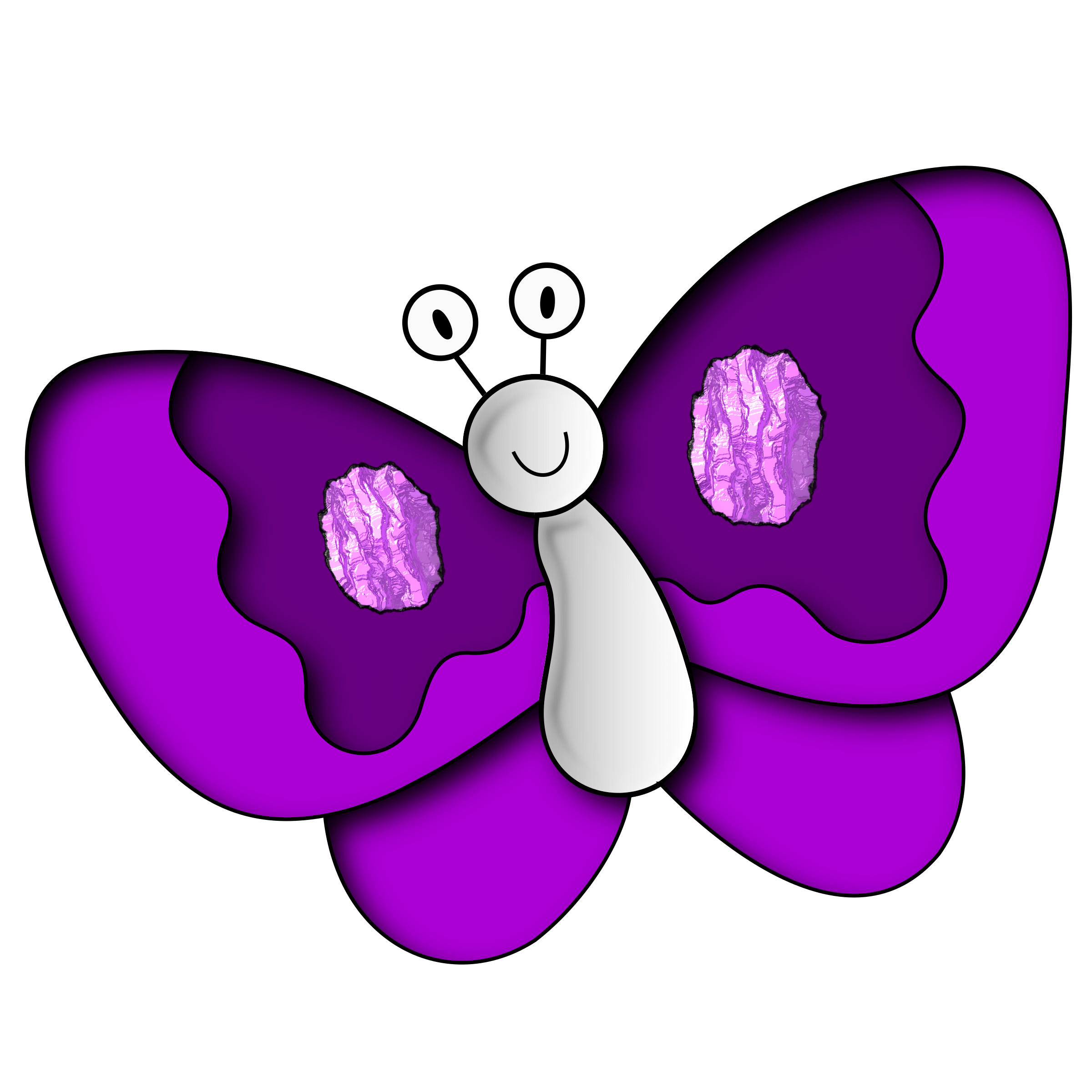 Markers clipart magenta. Butterfly purple big image
