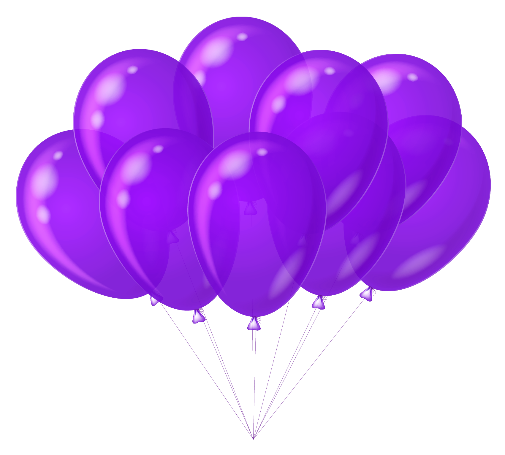Purple clipart. Transparent balloons gallery yopriceville