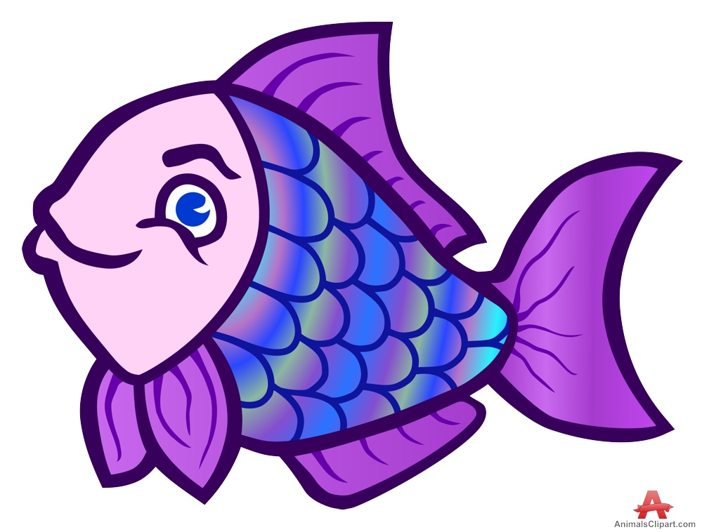 Animals clipart fish. Purple free design download