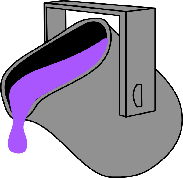 Purple clipart bucket. Clip art at clker