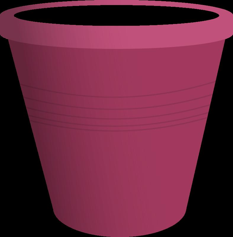 Purple clipart bucket. Pink plastic medium image