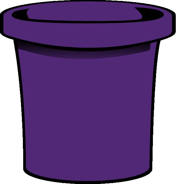 Simple clip art at. Purple clipart bucket