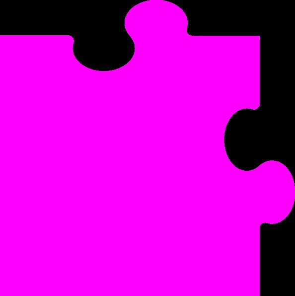 Puzzle piece clip art. Purple clipart corner
