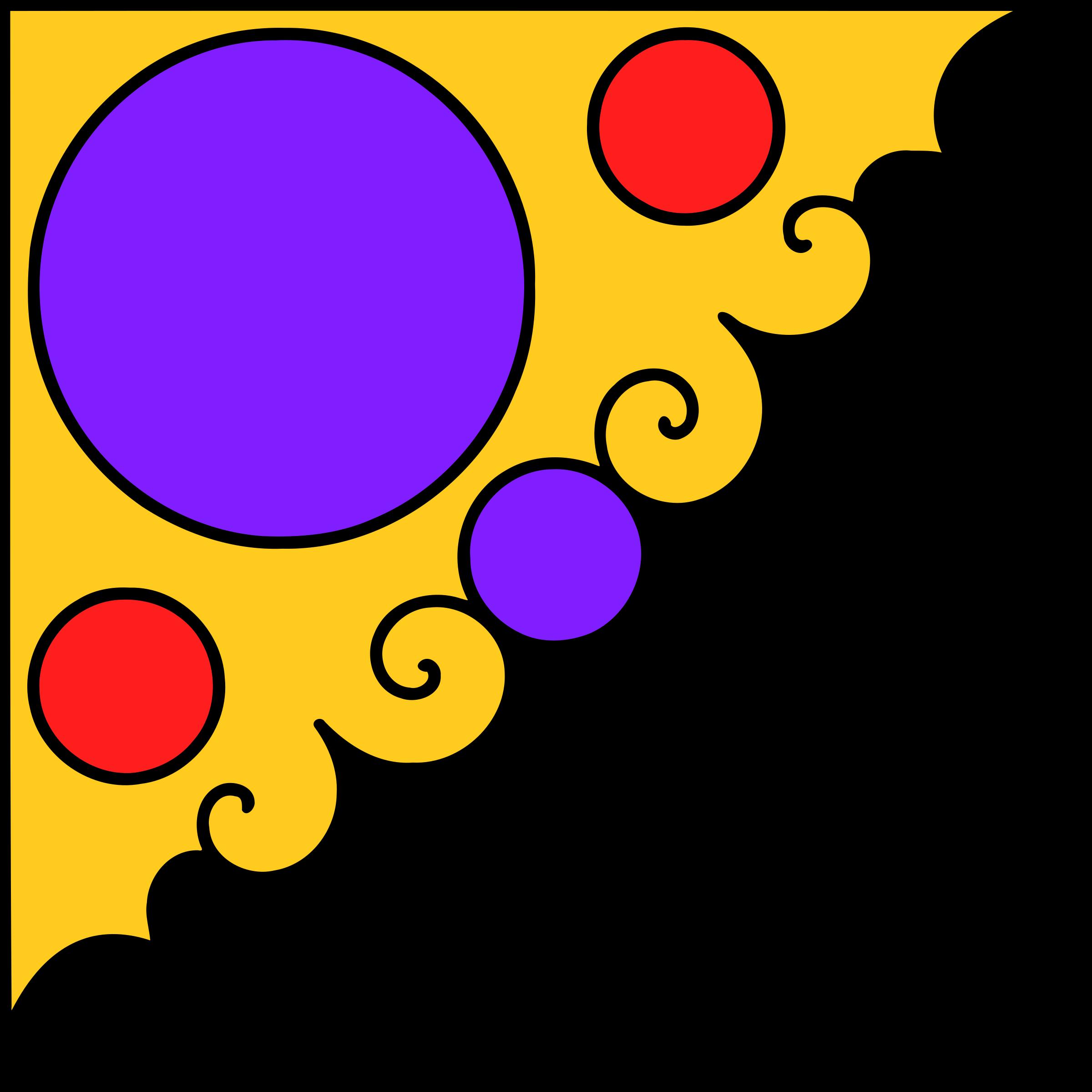 Purple clipart corner. Decorative big image png