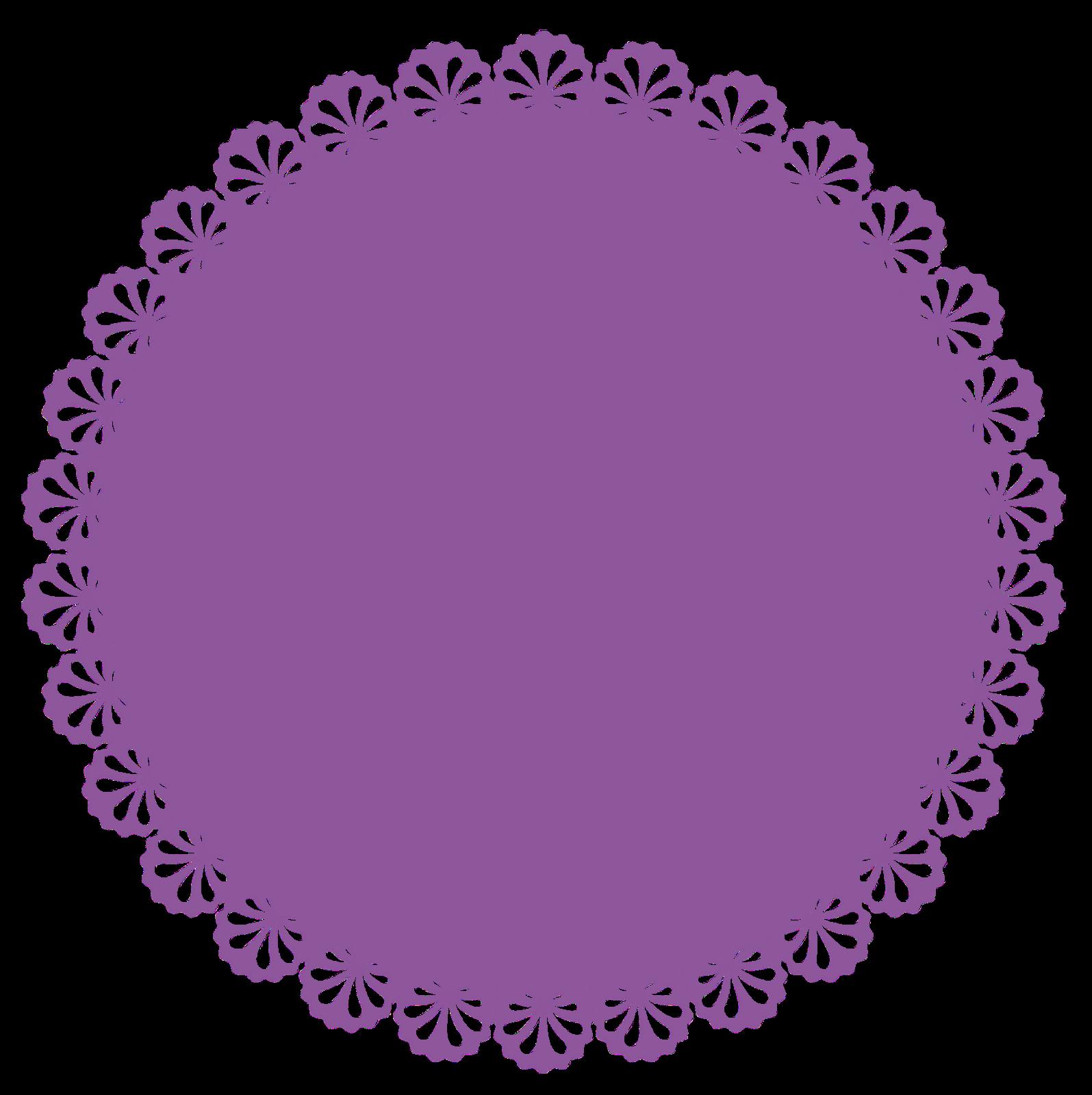 Escalopes frames gr tis. Purple clipart doily