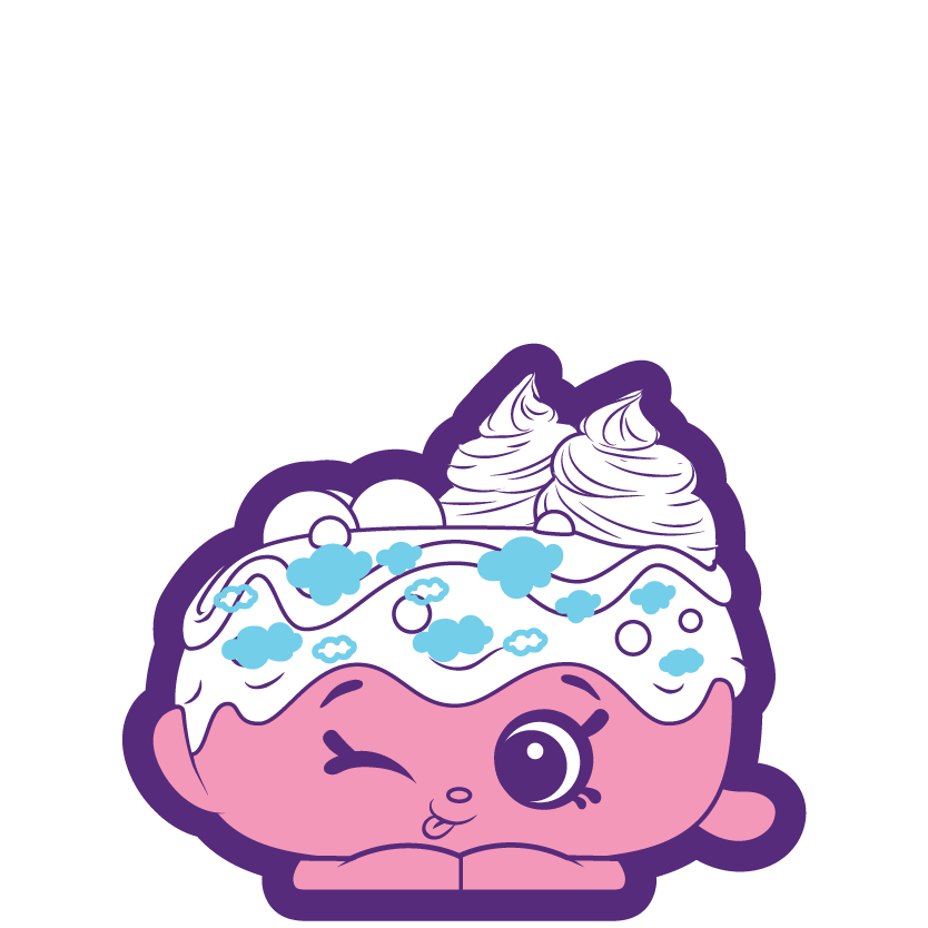 Shopkins flossy a special. Purple clipart donut