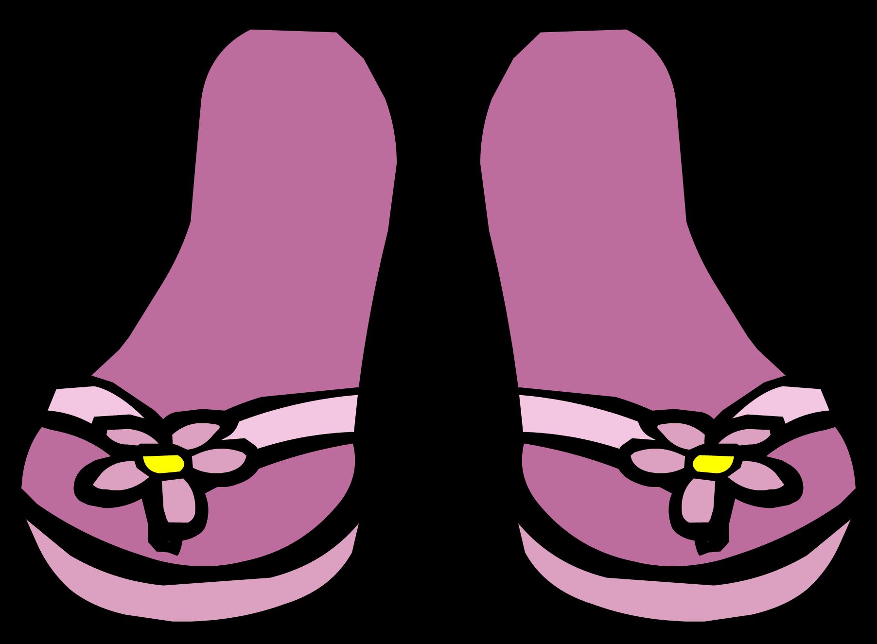 Purple clipart flip flop. Pink sandals club penguin