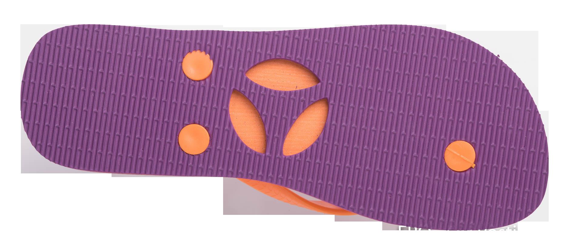 Thongs women classic violet. Purple clipart flip flop