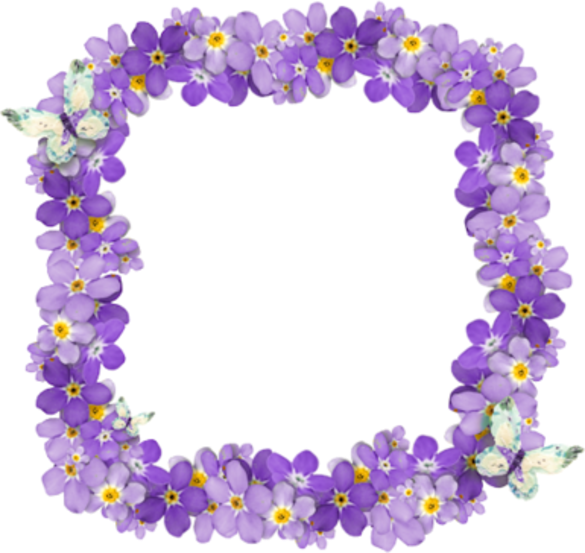 Forgetmenot nots frames. Purple clipart forget me not