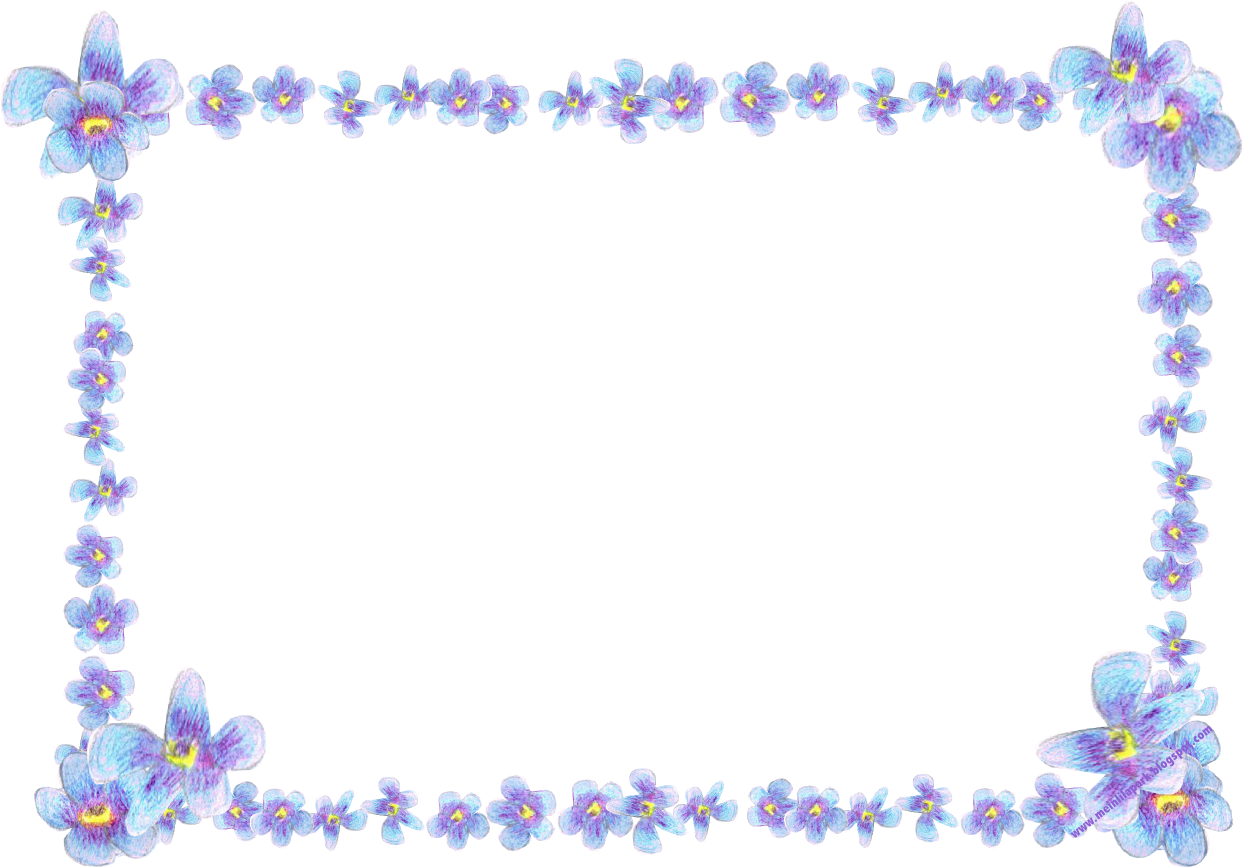 Purple clipart forget me not. Free digital blue flower