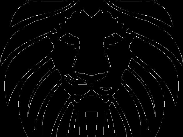 Purple clipart lion. Head image free download