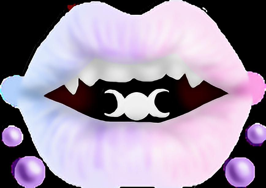 Kawaii cute space pastel. Purple clipart lips