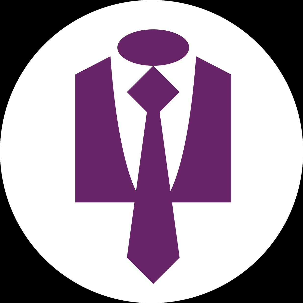 Suit clip art award. Purple clipart necktie