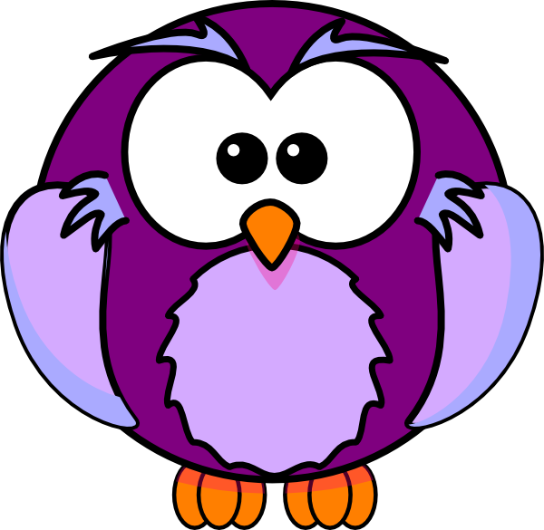 Clip art at clker. Purple clipart owl