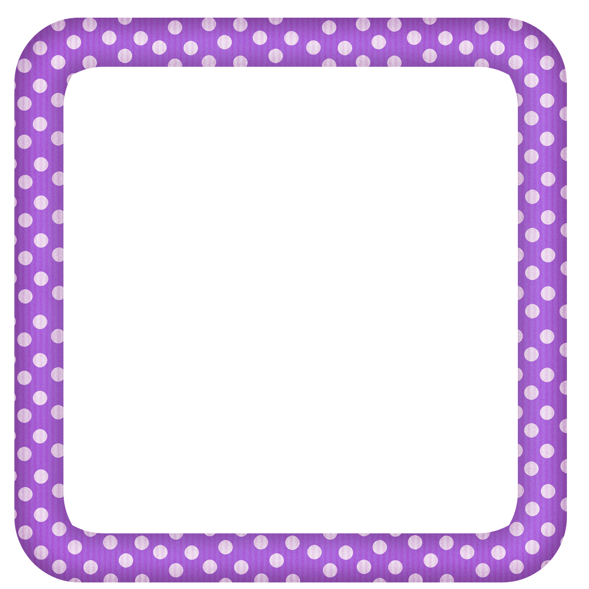Purple frame png. Large transparent dotted photo