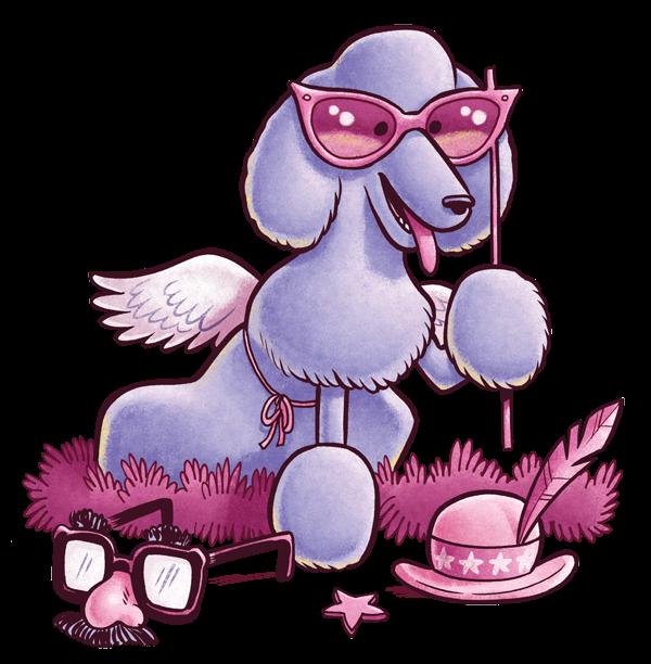 Free on dumielauxepices net. Purple clipart poodle