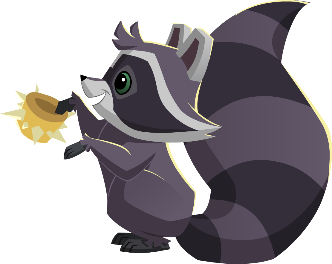 Image raccoon with a. Racoon clipart gray