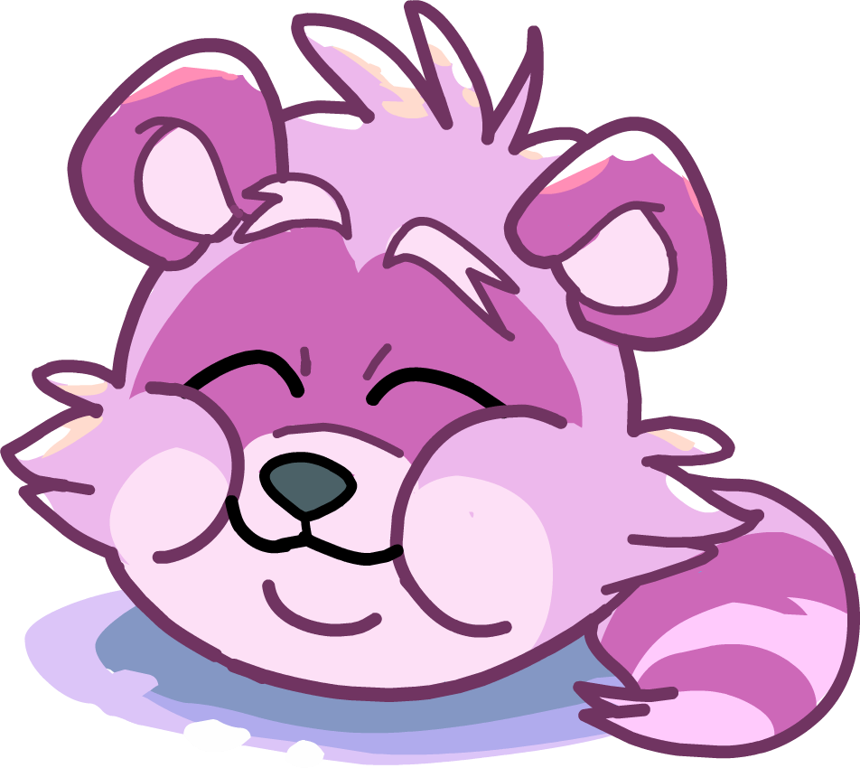 Purple clipart raccoon. Image puffle party comic