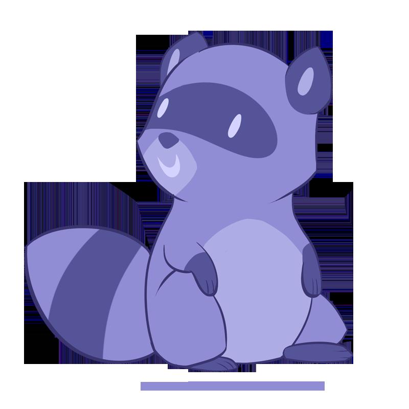 Purple clipart raccoon. By robo shark on