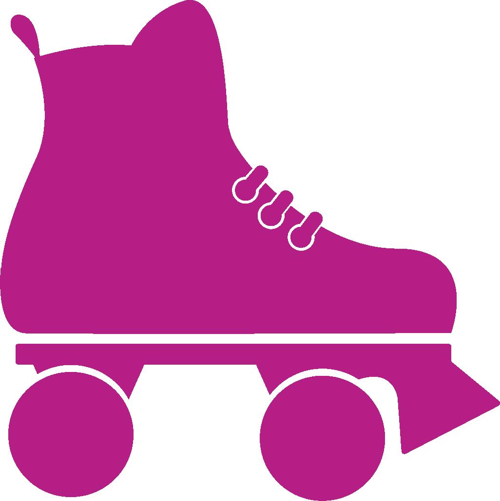 Rollerrinkicon mcgowan program administrators. Purple clipart roller skate