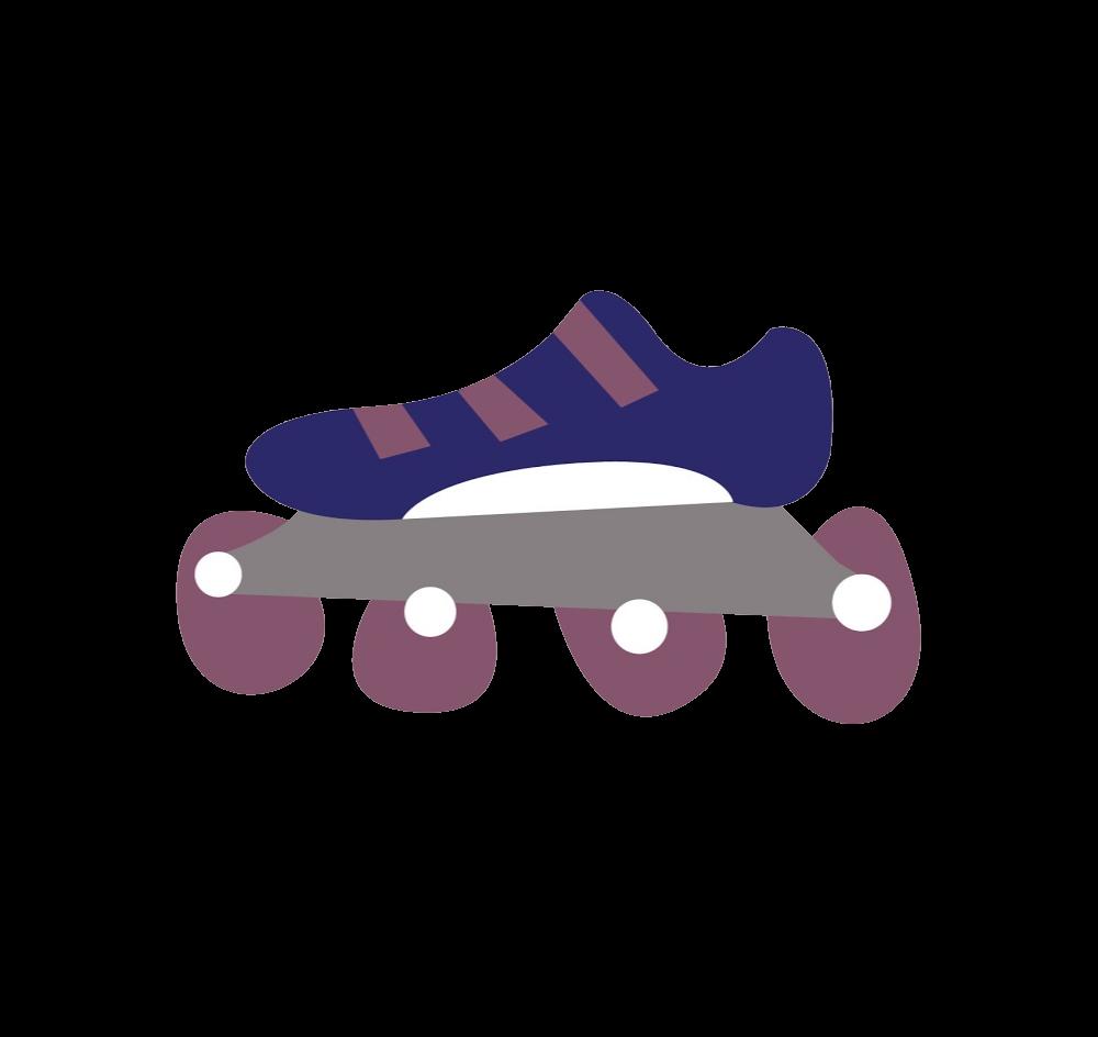 Purple clipart roller skate. Uganda skating federation hover