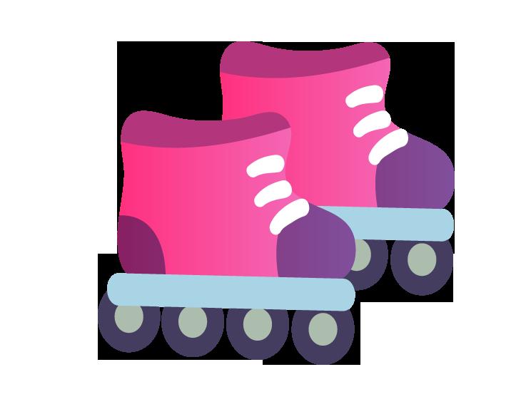 Purple clipart roller skate. Shoe skating skates cartoon