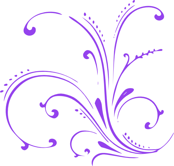 Butterfly clip art at. Purple clipart scroll