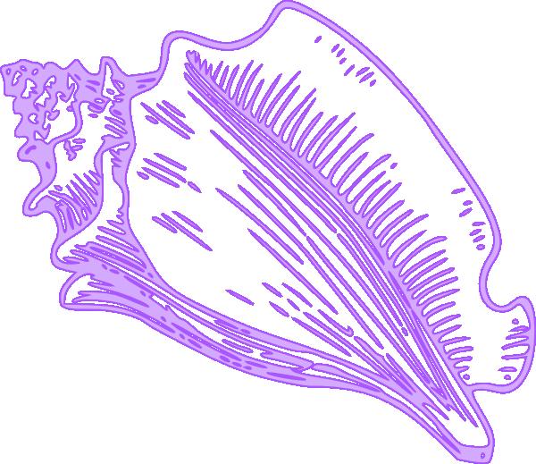 Purple clipart seashell. Conch shell clip art