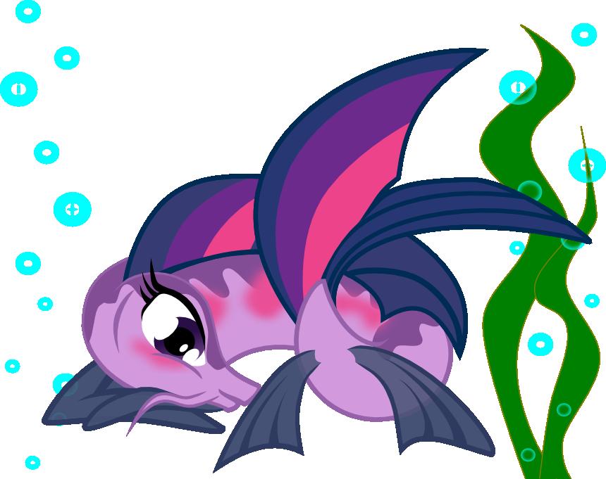 Purple clipart seaweed.  artist skrysal blushing