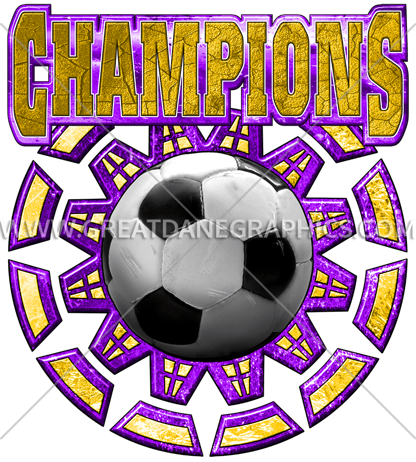 Purple clipart soccer. Champions production ready artwork