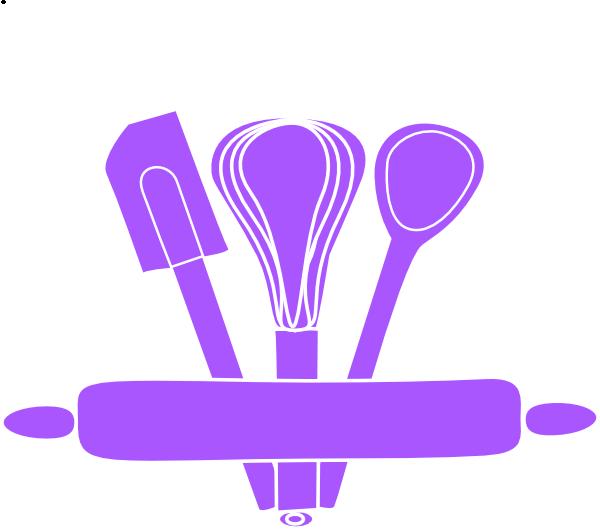 Baking utensils clip art. Purple clipart spoon