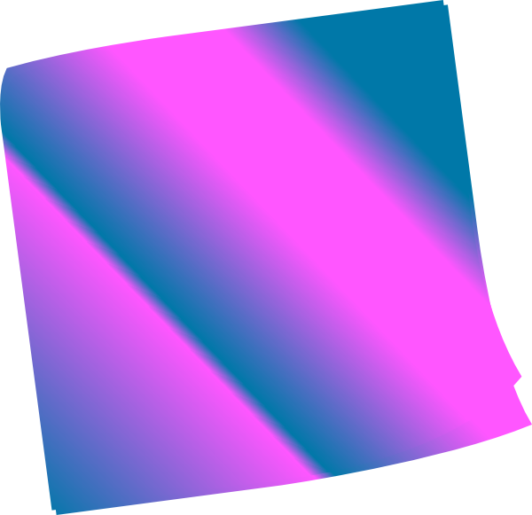 Shaded blue pinkn clip. Purple clipart sticky note
