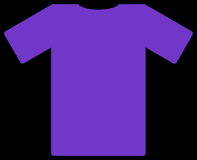 T shirt medium image. Purple clipart tshirt