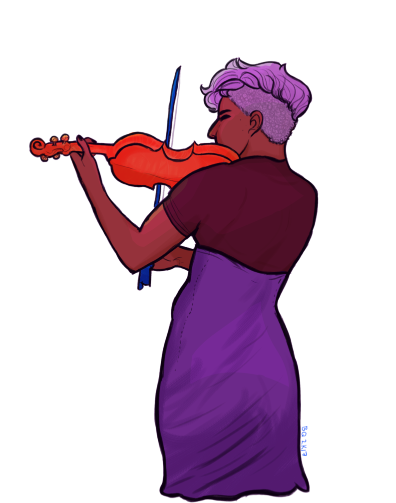 Play ur bby by. Purple clipart violin
