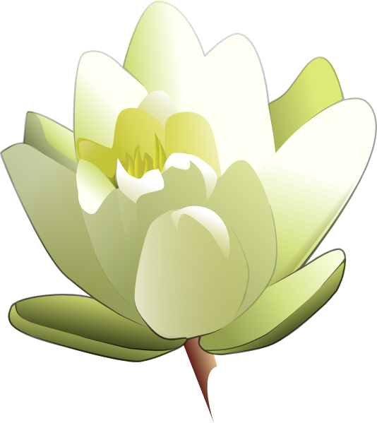 Purple clipart water lily. White clip art at