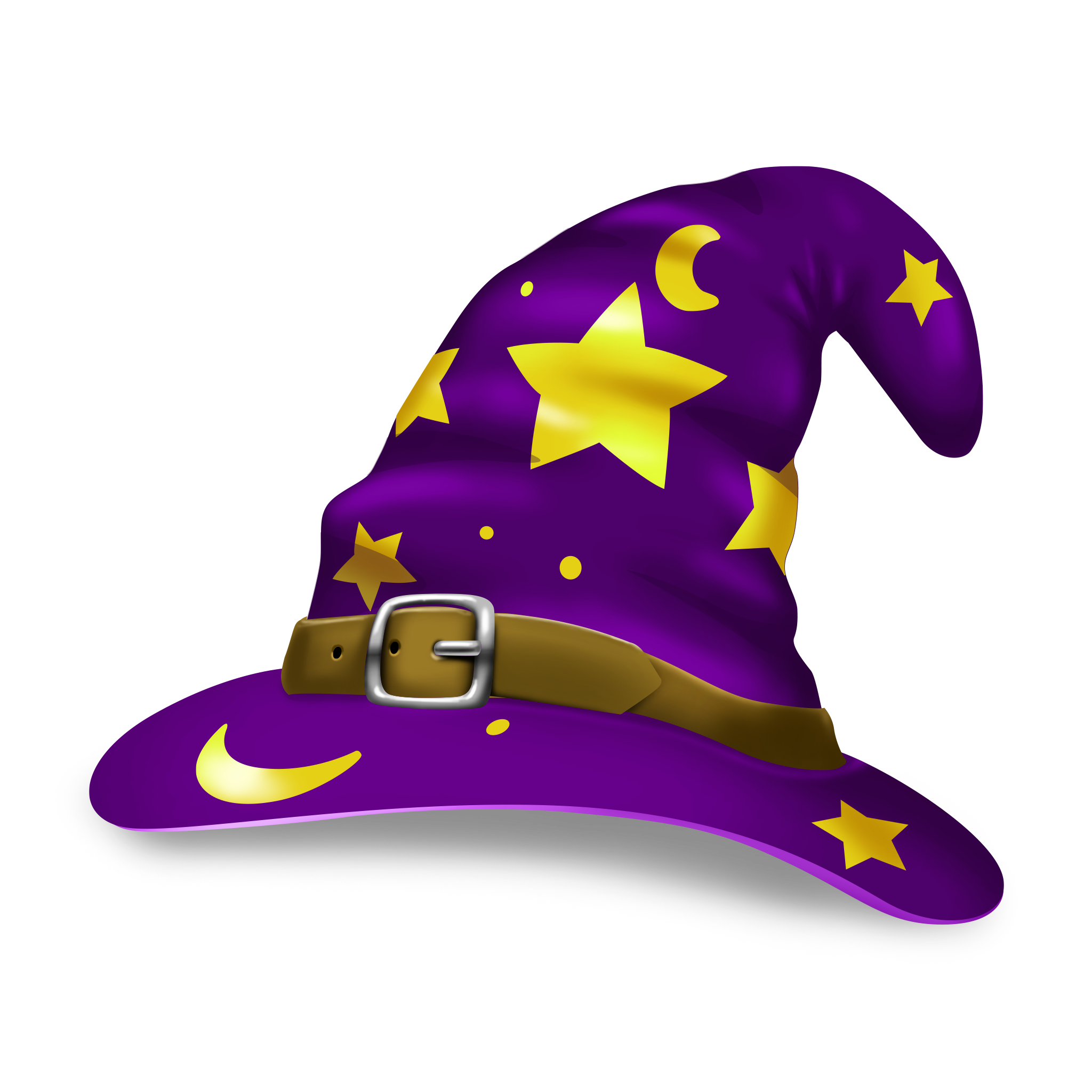 Illustration of hat on. Purple clipart wizard