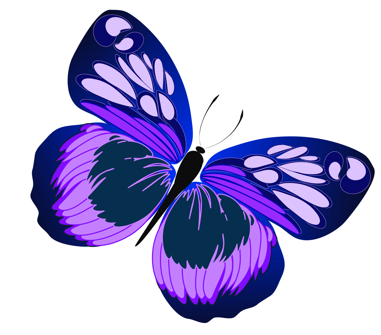 Blue and butterfly png. Purple clipart