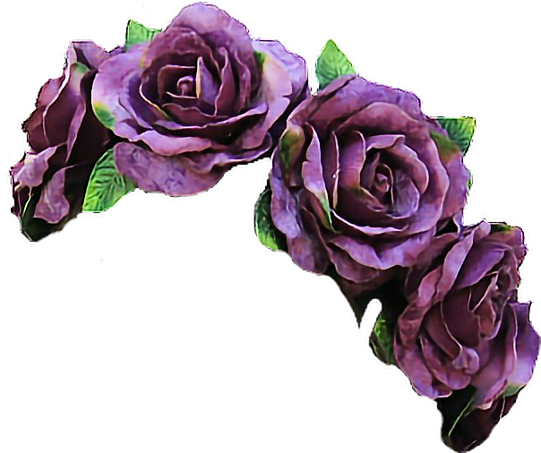 Vintage flowers flowercrown violet. Purple flower crown png