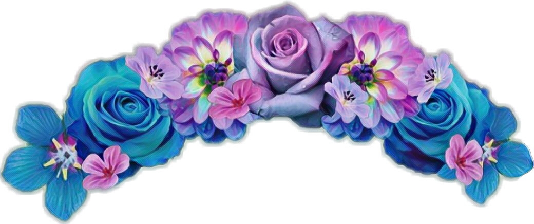 Purple flower crown png. Flowercrown sticker flowercrownsticker flowersti