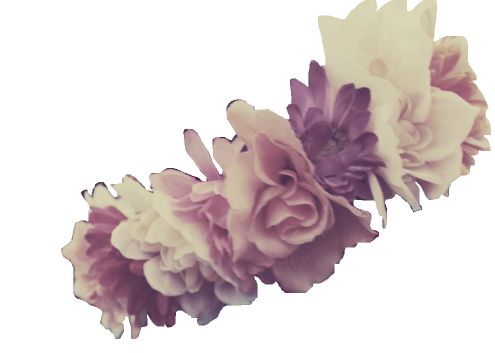 Purple flower crown png. Official psds share this
