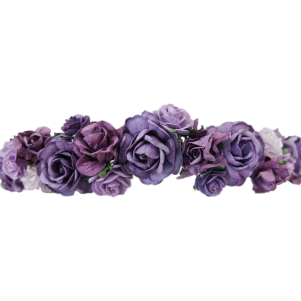 Flowercrown flowerheadband. Purple flower crown png