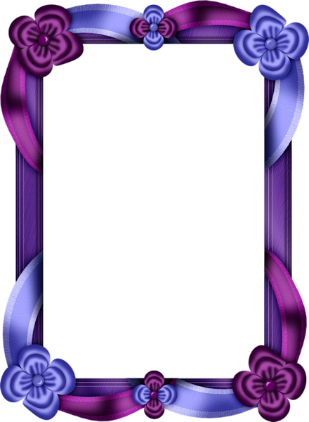 Purple frame png. Transparent and blue photo
