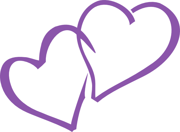 Purple hearts png.  heart image library