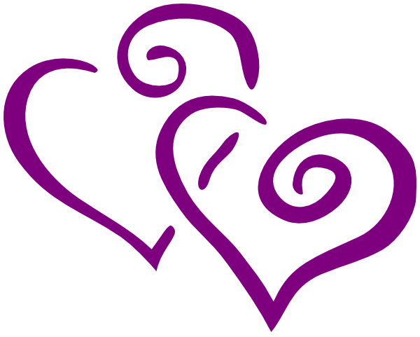 Purple hearts png. Dark heart wedding clip