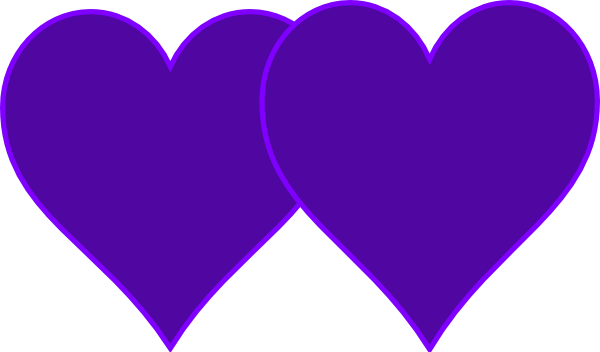 Purple hearts png. Double lined clip art