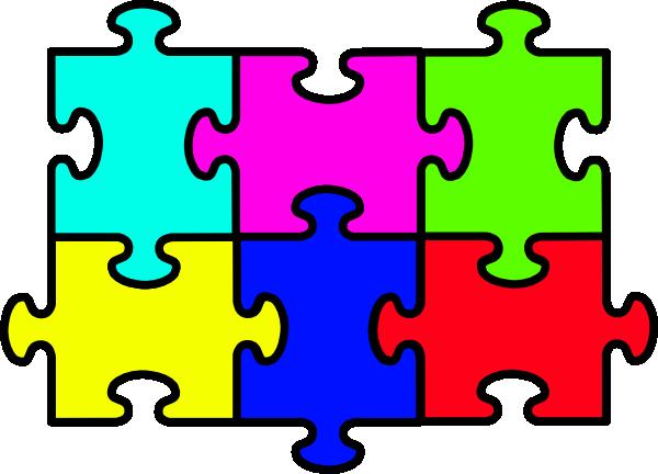 Puzzle clipart. Six pieces clip art