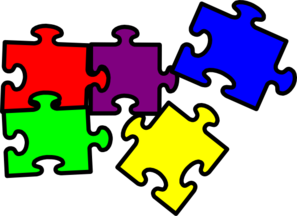Pieces clip art at. Puzzle clipart