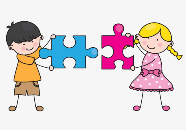 Puzzle clipart. Kids puzzles child play